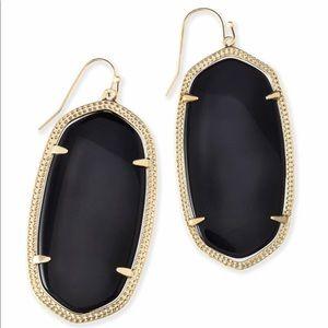Kendra Scott Danielle Black & Gold Drop Earrings